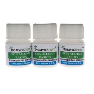 Homyoxpert Skin Allergy (rashes) Homeopathic Medicine For One Month