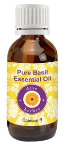 Personal Care & Beauty Accessories - Pure Basil Oil 30ml - Ocimum Basilicum