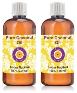 Pure Coconut Oil - Pack Of Two (100ml 100ml) Cocus Nucifera 100% Natural