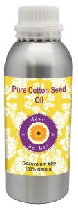 Pure Cotton Seed Oil 300ml - Gossypium Spp 100% Natural Cold Pressed