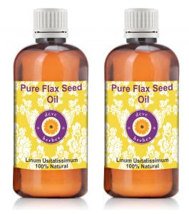 Pure Flax Seed Oil - Pack Of Two (100ml 100ml) Linum Usitatissimum