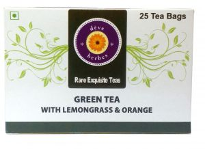 Green Tea - Green Tea with Lemongrass & Orange - 30 Tea Bags (incl 5 extra)