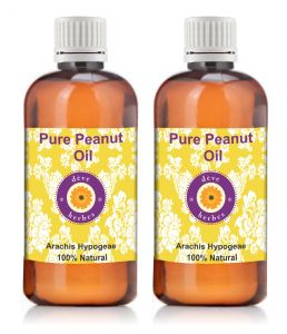 Pure Peanut Oil - Pack Of Two (100ml 100ml) Arachis Hypogeae 100% Natural