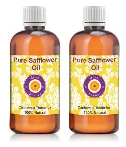 Pure Safflower Oil - Pack Of Two (100ml 100ml) Carthamus Tinctorius