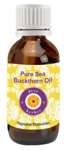 Pure Sea Buckthorn Oil 15ml (hippophae Rhamnoides) Natural & Cold Pressed