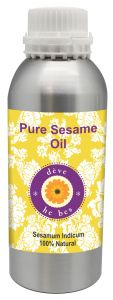Pure Sesame Oil 630ml - Sesamum Indicum 100% Natural Cold Pressed