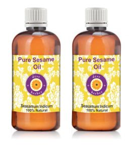 Pure Sesame Oil - Pack Of Two (100ml 100ml) Sesamum Indicum 100% Natural