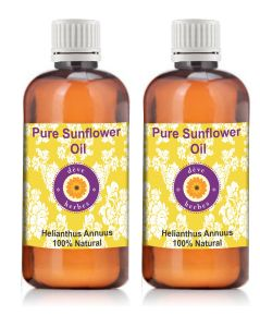 Pure Sunflower Oil-pack Of Two (100ml 100ml) Helianthusannuus 100% Natural