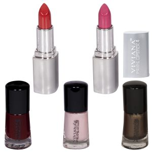 Viviana Personal Care & Beauty - VIVIANA COLOUR SPECIAL  LIPSTICKS & NAIL PAINT PACK