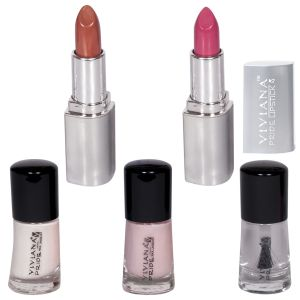 Cameleon,Clinique,Kent,Nike,Viviana,Panasonic Body Care - VIVIANA COLOUR SPECIAL  LIPSTICKS & NAIL PAINT PACK