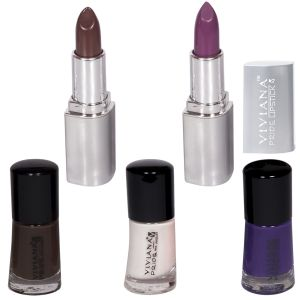 Viviana Colour Special Lipsticks & Nail Paint Pack