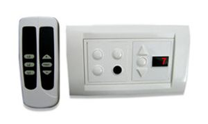 Total Remote Controlled Switch Board For 3 Lights & 1 Fan (with Regulator & Digital Display).