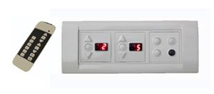 Apexremote Controlled Switch Board For 3 Lights, 2 Fan (with Regulator & Digital Display).