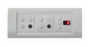 Apex Total Remote Controlled Switch Board For 6 Lights, 1 Fan (with Regulator & Digital Display)