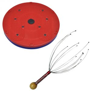Deemark Combo Of 5 In 1 Twister With Bokomo Head Massager