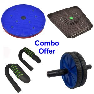 Deemark Combo Pack Of Twister,relief Mate,push Bar &ab Rollar