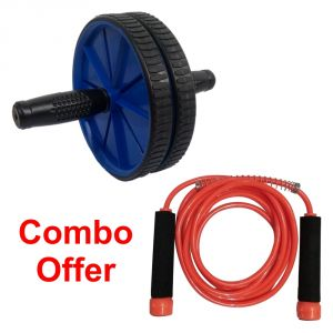 Deemark Combo Of Ab Rollar With Skipping Rope
