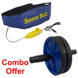 Deemark Combo Of Ab Slimmer With Ab Rollar