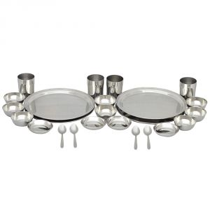Deemark 24 PCs Stainless Steel Dinner Set