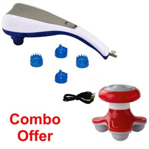 Deemark Combo Of Dolphin Massager With Mini Massager