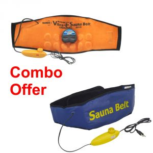 Deemark Combo Of Sauna Belt With Ab Slimmer
