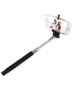 Deemark Handheld Folding Wired Selfi Stick