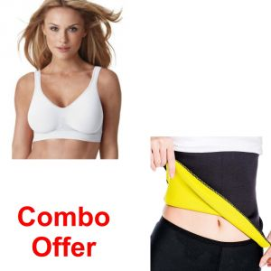 Deemark Combo Of Smart Bra Pack Of 3 With Hot Belt L