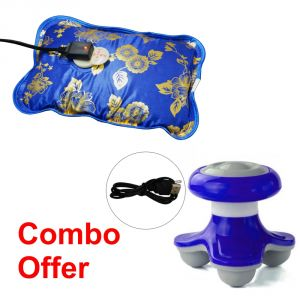 Deemark Combo Of Warm Bag With Mini Massager