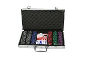 Sands Incorporation 300 Denomination Clay Chips Poker Game Set
