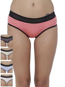 Triveni,Sangini,Gili,Cloe,La Intimo,Port,Soie Panties - Basiics By La Intimo Women's Frio Hot Brief Panty (Combo Pack of 5 ) - ( Code -BCPBR010E025 )