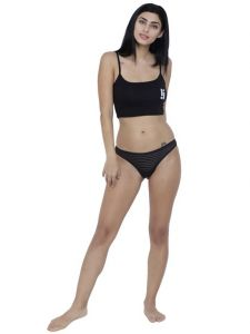 platinum,jagdamba,ag,estoss,port,101 Cart,Lew,Reebok,Mahi,Petrol,La Intimo Apparels & Accessories - Black Basiics By La Intimo Women's Naughty Brief Panty - ( Code -BCPBR02BK0 )
