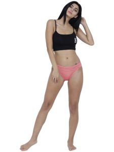 Triveni,Tng,Bagforever,La Intimo,Surat Tex,Gili,Flora,The Jewelbox,See More,Karat Kraft Women's Clothing - Coral Basiics By La Intimo Women's Naughty Brief Panty - ( Code -BCPBR02CR0 )