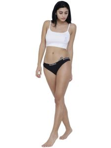 triveni,pick pocket,cloe,la intimo,parineeta,the jewelbox,bagforever,jagdamba,ag,Camro,Sigma Apparels & Accessories - Black Basiics By La Intimo Women's Dulce Candy Brief Panty - ( Code -BCPBR08BK0 )
