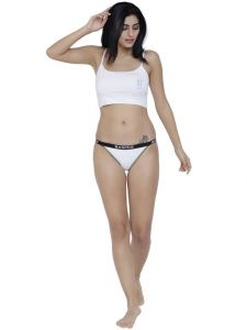 Triveni,Tng,Bagforever,La Intimo,Surat Tex,Flora,The Jewelbox,See More,Jpearls,Lime,Kaara Women's Clothing - White Basiics By La Intimo Women's Fashionable Brief Panty - ( Code -BCPBR09WE0 )