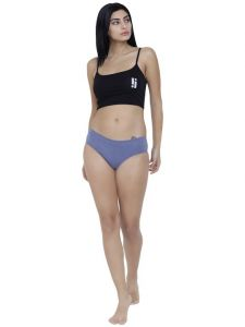 Lime,Clovia,Soie,See More,Kalazone,Arpera,La Intimo,Magppie,Mahi Fashions Women's Clothing - Blue Basiics By La Intimo Women's Coqueto Flirty Hipster Panty - ( Code -BCPHP03BM0 )
