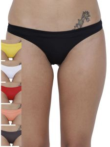 Triveni,Sangini,Gili,Cloe,La Intimo,Port,Soie Panties - Basiics By La Intimo Women's Spiffy Semiseamless Panty (Combo Pack of 6 ) - ( Code -BCPSS010F0MC )