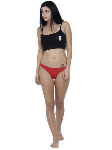 Triveni,Pick Pocket,Jpearls,Cloe,Arpera,Hoop,La Intimo,Parineeta,The Jewelbox,Bagforever,My Pac Women's Clothing - Red Basiics By La Intimo Women's Spiffy Semiseamless Panty - ( Code -BCPSS01RD0 )