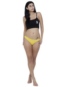 Triveni,Sangini,Kiara,Estoss,Oviya,Surat Diamonds,The Jewelbox,La Intimo Women's Clothing - Yellow Basiics By La Intimo Women's Spiffy Semiseamless Panty - ( Code -BCPSS01YW0 )