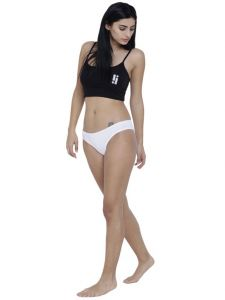 Sukkhi,Surat Diamonds,The Jewelbox,Asmi,Soie,Gili,Estoss,Oviya,La Intimo Women's Clothing - White Basiics By La Intimo Women's Amor Love Semiseamless Panty - ( Code -BCPSS02WE0 )