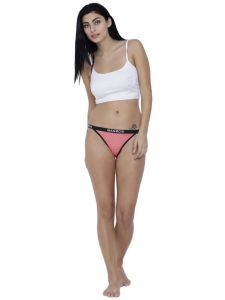 Triveni,La Intimo,Fasense,Gili,Tng,Ag,The Jewelbox,Estoss,Parineeta,Soie Women's Clothing - Coral Basiics By La Intimo Women's Caliente Hot Thong Panty - ( Code -BCPTH01CR0 )