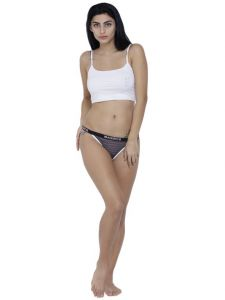 triveni,la intimo,the jewelbox,cloe,pick pocket,surat tex,soie,gili,kiara,Hotnsweet,Sigma,Arpera Apparels & Accessories - Grey Basiics By La Intimo Women's Caliente Hot Thong Panty - ( Code -BCPTH01PG0 )