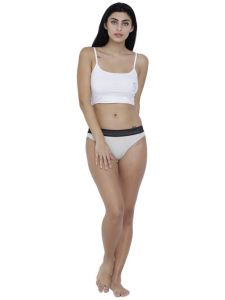 Triveni,Pick Pocket,Parineeta,Arpera,Sleeping Story,La Intimo,Jharjhar,Hoop,Oviya Women's Clothing - White Basiics By La Intimo Women's Bonita Pretty Thong Panty - ( Code -BCPTH02OM0 )