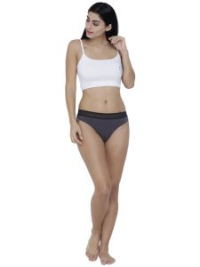 Triveni,La Intimo,Fasense,Gili,Tng,See More,Ag,The Jewelbox,Estoss,Parineeta,Soie Women's Clothing - Grey Basiics By La Intimo Women's Bonita Pretty Thong Panty - ( Code -BCPTH02SL0 )