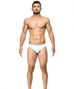 Basiics - Breatheable Chic White Briefs - (code - Bcsbr01we0 )