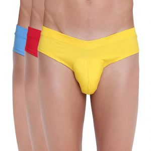 Briefs (Men's) - Fanboy Style Brief Basiics by La Intimo (Pack of 3) - ( Code -BCSSS03C1360)