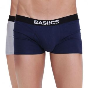 triveni,my pac,Solemio,La Intimo,See More,Lime,Shonaya,Supersox,My Pac Apparels & Accessories - Hot Hunk Trunk Basiics by La Intimo (Pack of 2 ) - ( Code -BCSTR04B0780 )