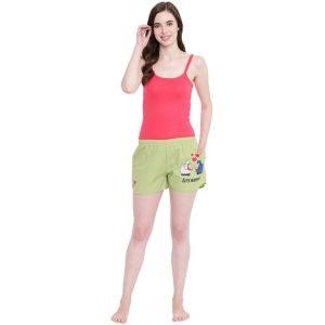 Rcpc,Tng,La Intimo,Estoss,Asmi,Pick Pocket,Sukkhi,Surat Tex,Flora,Jagdamba Women's Clothing - La Intimo Sheep Play Safe Pista shorts - ( Code - BOLIF001PA0 )