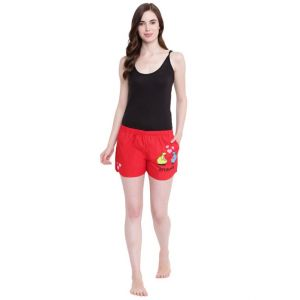 Soie,Flora,Fasense,The Jewelbox,Asmi,La Intimo,Surat Tex,See More,Sinina,Mahi Women's Clothing - La Intimo Sheep Play Safe Red shorts - ( Code - BOLIF001RD0 )