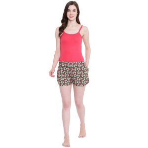 Soie,La Intimo,Jpearls,Surat Tex,Lime,Estoss Women's Clothing - La Intimo Sheep Love Olive shorts - ( Code - BOLIF002OV0 )