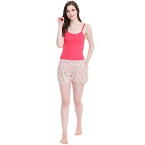 hoop,shonaya,vipul,the jewelbox,sinina,jagdamba,see more,sangini,la intimo,magppie Shorts (Women's) - La Intimo Sheep Love Pink shorts - ( Code - BOLIF002PK0 )